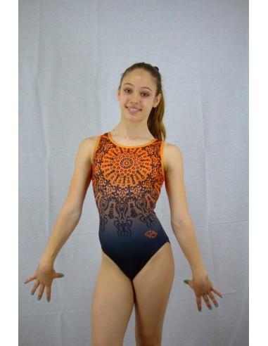 Body Orange Mandala - Body Senza Maniche